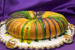 Mardi Gras King Cake royalty free stock photography
