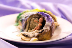 Mardi Gras King Cake with baby Stock Photography