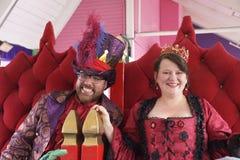 Mardi Gras Kingand Queen Royalty Free Stock Image