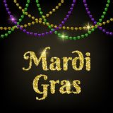 Mardi Gras kort royaltyfri illustrationer