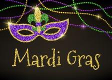 Mardi Gras kort vektor illustrationer
