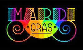 Mardi Gras kort stock illustrationer