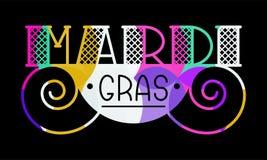 Mardi Gras kort royaltyfri illustrationer