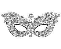 Mardi gras lace mask Royalty Free Stock Image