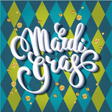 Mardi Gras. Lettering design for Banners, Flyers, Placards, Post Royalty Free Stock Image