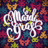 Mardi Gras. Lettering design for Banners, Flyers, Placards, Post Stock Photography