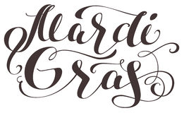 Mardi Gras lettering text for greeting card Stock Photography
