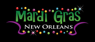 Mardi Gras Logo. Mardi Gras  new orleans logo Royalty Free Stock Photos