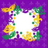Mardi Gras Marco púrpura elegante Lugar para el texto Fotos de archivo libres de regalías