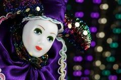 Mardi Gras Marionette Mask Imagen de archivo