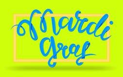 Mardi Gras, martedì grasso, illustrazione dell'iscrizione di vettore nello stile 3d Progetti il modello del manifesto o dell'inse Fotografia Stock