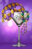 Mardi Gras Martini Imagen de archivo libre de regalías