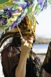 Mardi Gras mask stock photos