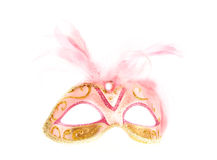Mardi gras mask. A pink and gold mardi gras mask Royalty Free Stock Images