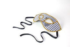 Mardi Gras Mask. On white background with soft shadow Royalty Free Stock Image