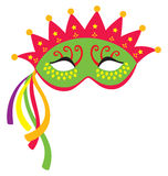 Mardi Gras Mask 3. A mardi gras mask, illustrated with striking colors and shapes