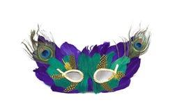 Mardi gras mask. Isolated on white