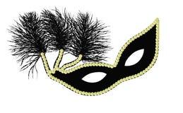 Mardi Gras Mask. Black and gold Mardi Gras or Halloween mask