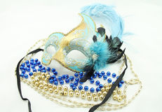 Free Mardi Gras Mask And Beads Royalty Free Stock Images - 37162939