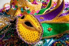 Mardi Gras mask background Stock Photography