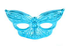 Mardi Gras Mask. A blue Mardi Gras mask against a white background Royalty Free Stock Images
