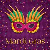 Mardi gras mask Stock Images