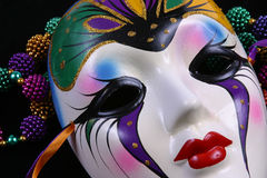 Mardi Gras Mask Closeup Stock Photos