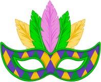 Mardi Gras mask. Colored design
