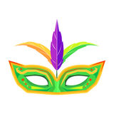 Mardi Gras Mask with Feathers Isolated Vector Stock Photos