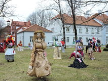 Mardi Gras  mask festival, Lithuania Stock Images