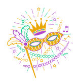 Mardi Gras Mask icon. Royalty Free Stock Photo