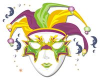 Mask of mardi gras. Mardi gras mask with many months and stars