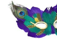 Mardi gras mask (part) royalty free stock photo