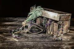 Mardi Gras Mask Still Life royaltyfri bild