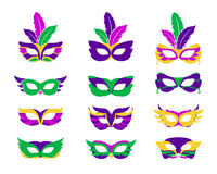 Mardi gras mask. Vector s isolated on white