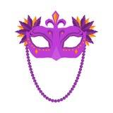 Mardi Gras Mask on White Background. royalty free stock images