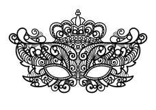 Mardi Gras-masker van de reeks van de kantinzameling Royalty-vrije Stock Afbeelding