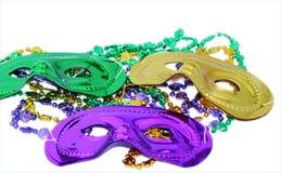 Mardi Gras maskerar Royaltyfria Bilder