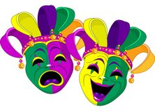 Mardi Gras Masks vector illustration
