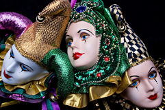 Mardi Gras Masks Stock Photo