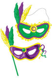 Mardi Gras masks. Who dat Stock Image
