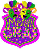 Mardi Gras Masks design Stock Photos