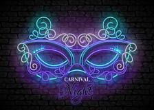 Mardi Gras Masquerade Mask Stock Images