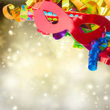 Mardi gras masques. On glimming festive  background Stock Photo