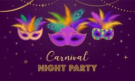 Mardi Gras - molde gordo da celebração do carnaval de terça-feira ilustração stock