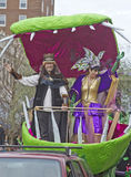 Mardi Gras Parade King and Queen Royalty Free Stock Photography