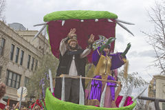 Mardi Gras Parade King and Queen Royalty Free Stock Image