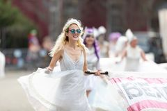 Mardi Gras Parade New Orleans stockfotos