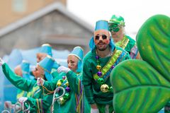 Mardi Gras Parade New Orleans royalty free stock photography