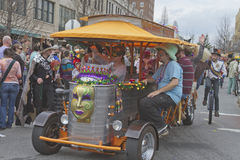Mardi Gras Parade and PubCycle Royalty Free Stock Photos